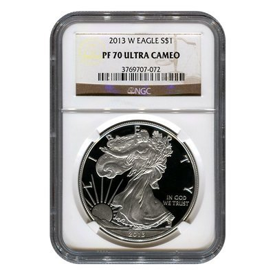 Certified Proof Silver Eagle 2013-W PF70 NGC