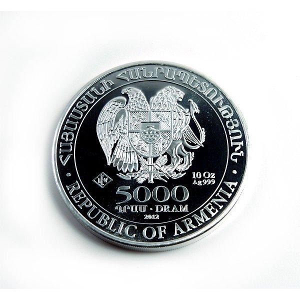 Armenia 10 oz Silver Noahs Ark 2012