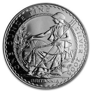 Uncirculated Silver Britannia 1 oz 2005