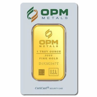 Gold Bars: OPM Metals One Ounce Gold Bar