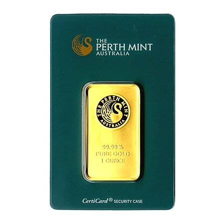 Gold Bars: Perth Mint One Ounce Gold Bar