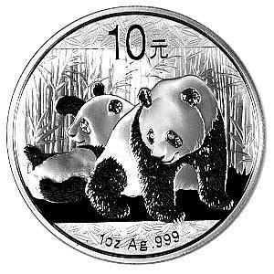 Chinese Silver Panda 1 oz 2010
