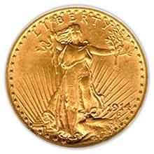 Early Gold Bullion $20 Saint Gaudens Almost Uncirculate
