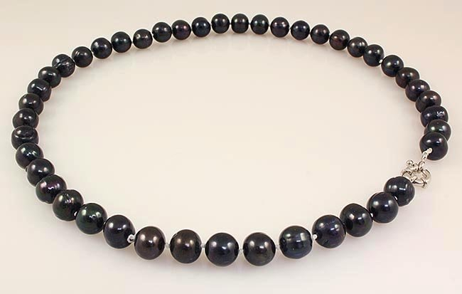BLACK FRESHWATER PEARL 308.22CTW ROUND NECKLACE