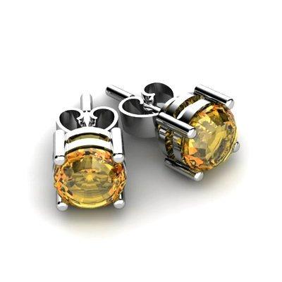 Citrine 0.80ctw Earring 14kt White Gold