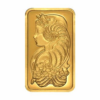 Gold Bars: Pamp Suisse Five Ounce Gold Bar