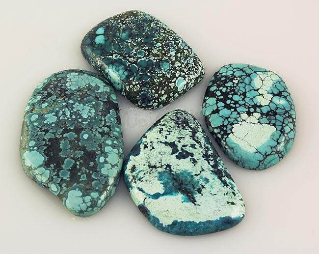 Natural Turquoise 177.20ctw Loose Gemstone Lot of 3