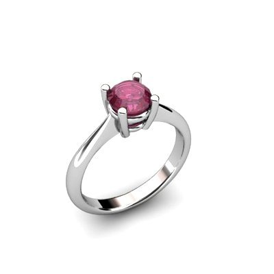 Ruby 1.05ctw Ring 14kt White Gold