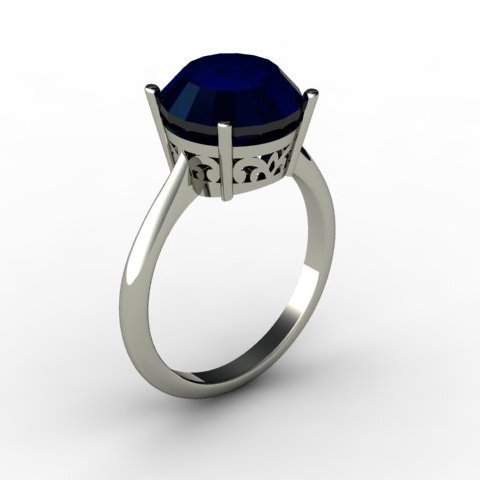 Sapphire 4.50 ctw Ring14kt White Gold
