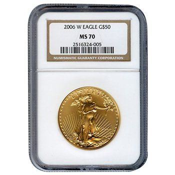 Certified American $50 Gold Eagle 2006-W MS70 NGC