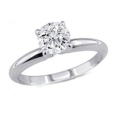 0.75 ct Round cut Diamond Solitaire Ring, G-H, SI2