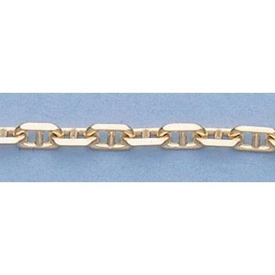 """Pure Gold 16"""" 14kt Italian Gold-Yellow 2.7mm, Anchor"""
