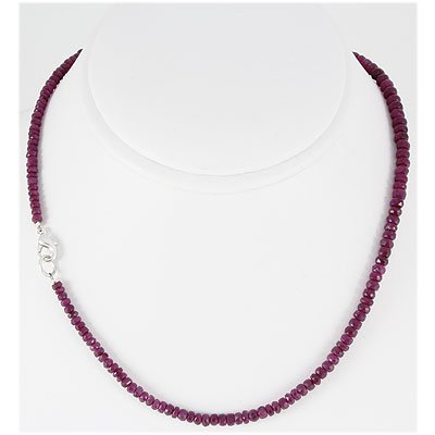 79.35ct Natural Ruby Micro Faceted Necklace