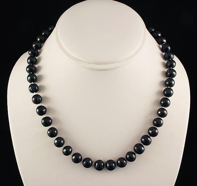 BLACK FRESHWATER PEARL 278.13CTW ROUND NECKLACE