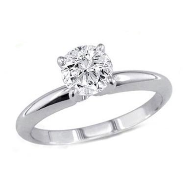 0.35 ct Round cut Diamond Solitaire Ring, G-H, I1-I2