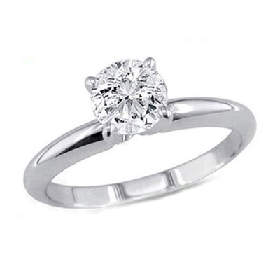 0.50 ct Round cut Diamond Solitaire Ring, G-H,I1-I2