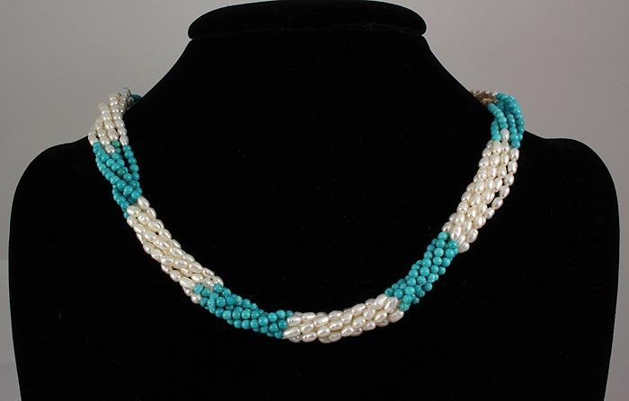 234.08CTW TWISTED VICTORIAN BEADS NECKLACE