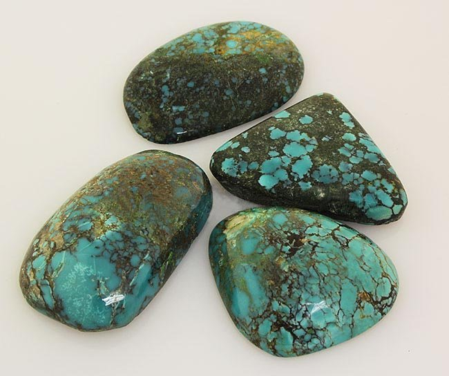 Natural Turquoise 225.36ctw Loose Gemstone 4pc Big Size