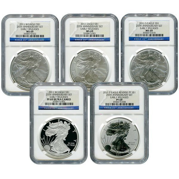 Certified 2011 American Eagle 25th Anniversary 5 pc