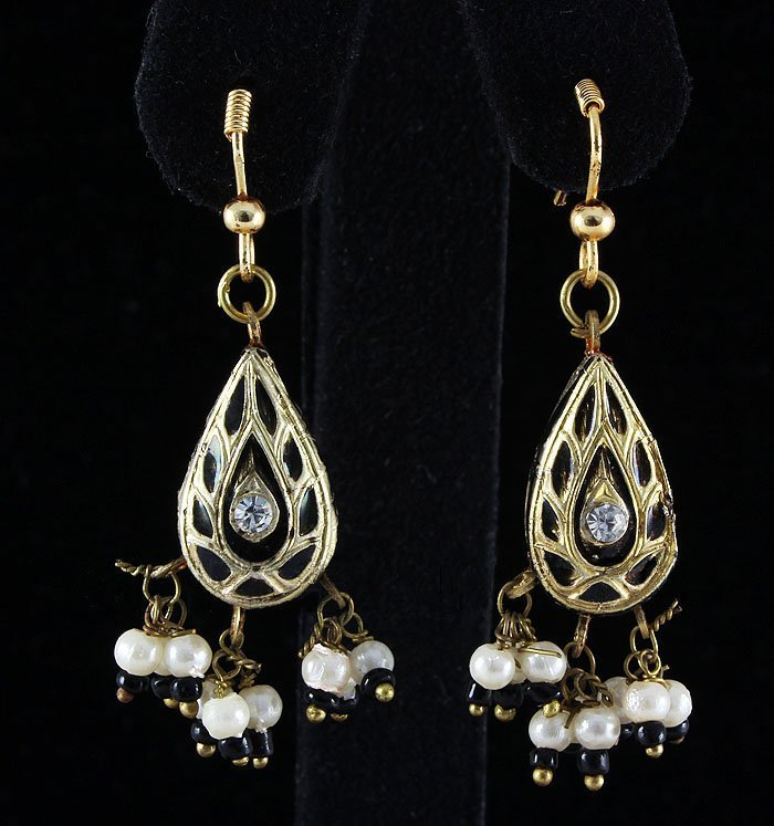 3.20GRAM INDIAN HANDMADE LAKH FASHION EARRING