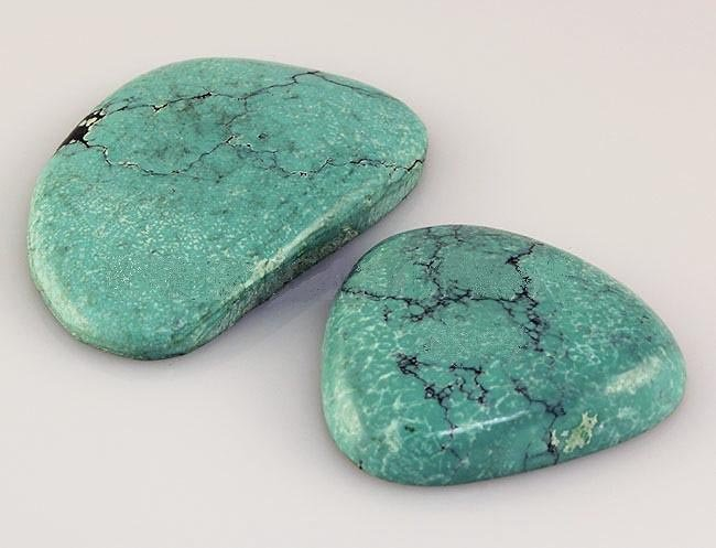 Natural Turquoise 152.34ctw Loose Gemstone 2pc Big Size