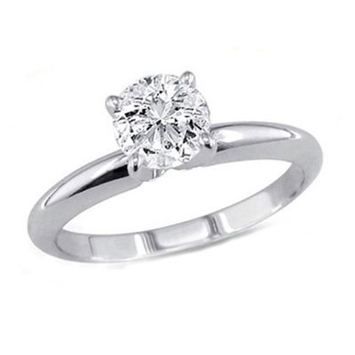 1.00 ct Round cut Diamond Solitaire Ring, G-H, VS