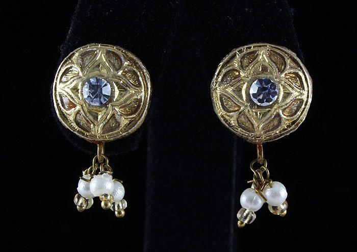2.83GRAM INDIAN HANDMADE LAKH STUD FASHION EARRING