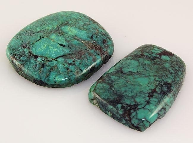 Natural Turquoise 153.26ctw Loose Gemstone 2pc Big Size