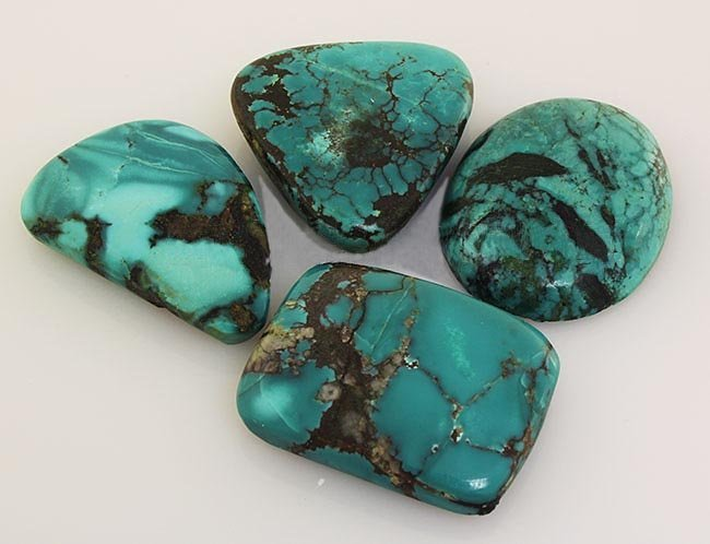 Natural Turquoise 228.30ctw Loose Gemstone 4pc Big Size