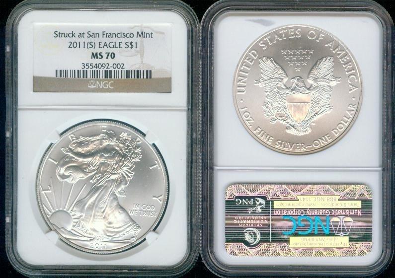 2011 (S) Silver Eagle NGC MS-70 - San Francisco Mint