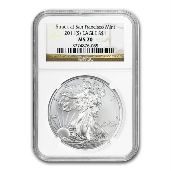 2011 (W) Silver Eagle NGC MS-70 -West Point Mint Star