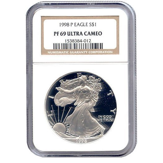 Certified Proof Silver Eagle PF69 1996-1998
