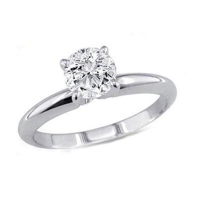 0.25 ct Round cut Diamond Solitaire Ring, G-H,I1-I2