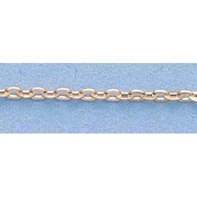 """Pure Gold 16"""" 14k Gold-Yellow 1.3mm D/C Circle Chain"""