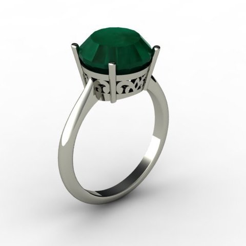 Emerald 6.10 ctw Ring14kt White Gold