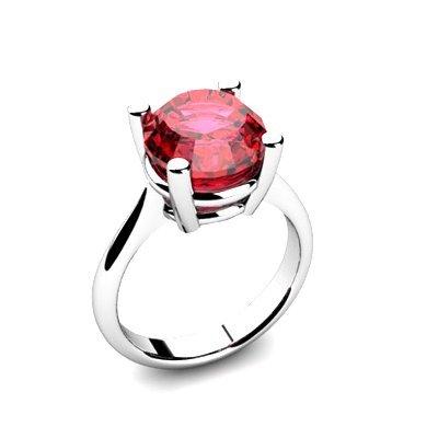 Garnet 5.75ctw Ring 14kt White Gold