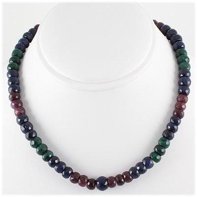 374.59ct Natural Multi-Color Rondelles Necklace
