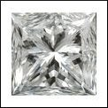 Princess 0.52 Carat Brilliant Diamond E VS1