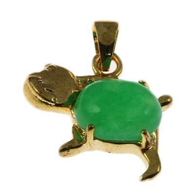 2.3gx5 Cute Dog Shape Sterling Yellow Pendant w/