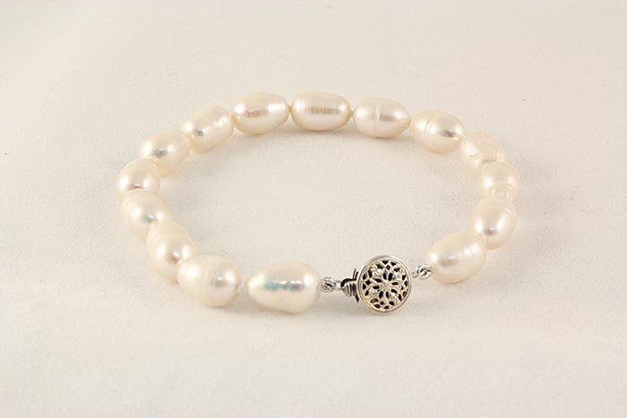 46.65ctw Philippines 8.0inches Rice FW Pearl Bracelet