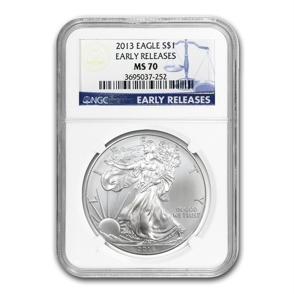 2013 (S) Silver American Eagle MS-70 NGC (Early