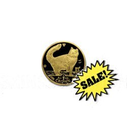 Gold Cats: Isle Of Man : One 25th Ounce 1991