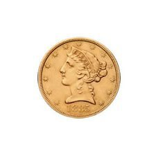 $5 Liberty Extra Fine Early Gold Bullion