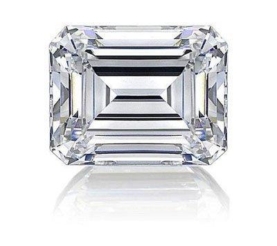 Emerald 0.90 Carat Brilliant Diamond E SI1