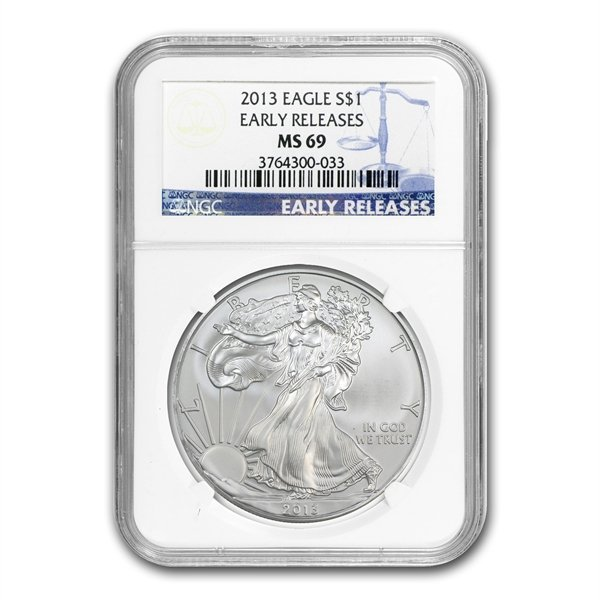 2013 (S) Silver American Eagle MS-69 NGC (Early