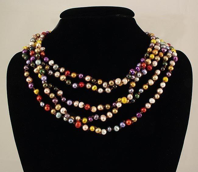 MULTI-COLOR FRESHWATER PEARL 543.67CTW NECKLACE