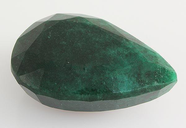 Emerald 119.18ctw Loose Gemstone 40x28x16mm Pear Cut