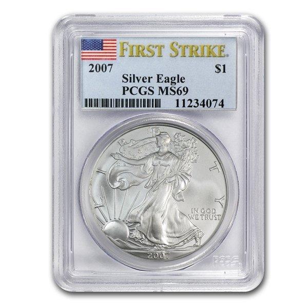 2007 1 oz Silver American Eagle MS-69 PCGS