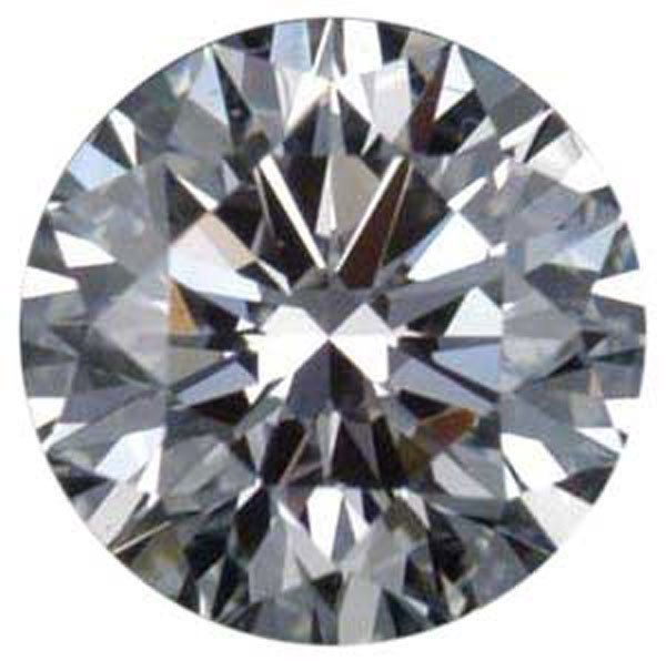 Round 0.50 Carat Brilliant Diamond D VS2