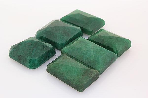 193.20ctw Faceted Loose Emerald Beryl Gemstone Lot of 6